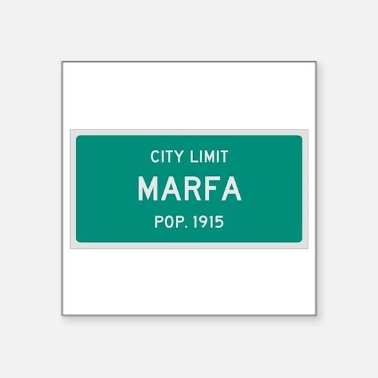 Marfa, Texas City Limits Sticker