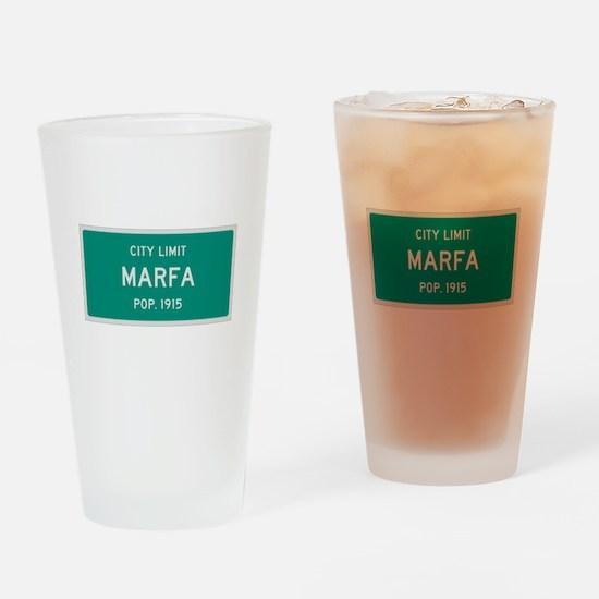 Marfa, Texas City Limits Drinking Glass