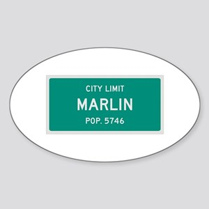 Marlin, Texas City Limits Sticker