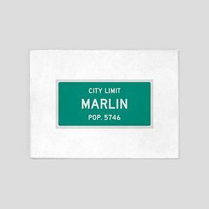 Marlin, Texas City Limits 5'x7'Area Rug