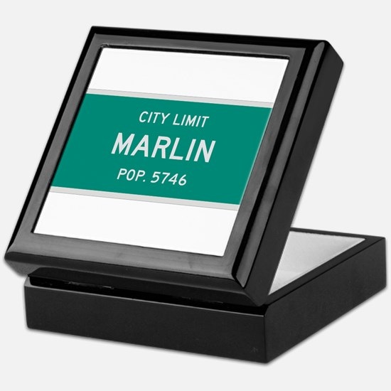 Marlin, Texas City Limits Keepsake Box