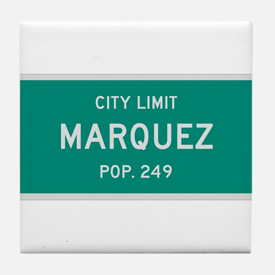 Marquez, Texas City Limits Tile Coaster