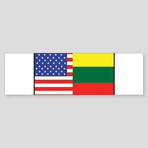 USA/Lithuania Bumper Sticker