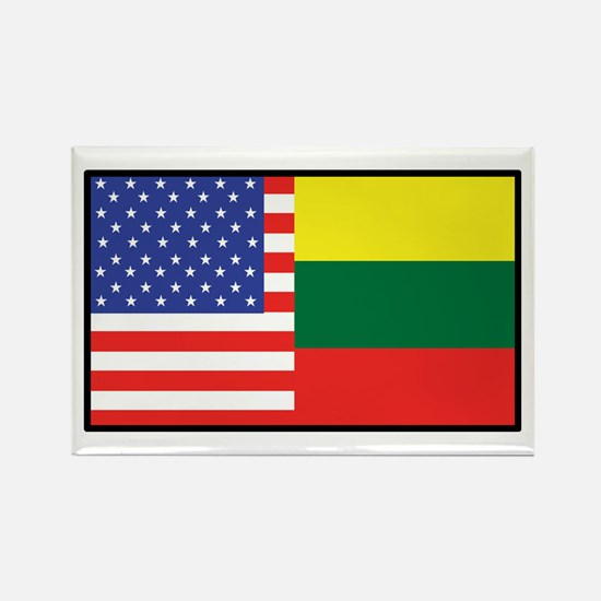USA/Lithuania Rectangle Magnet