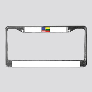 USA/Lithuania License Plate Frame