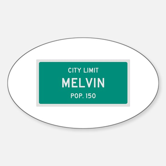 Melvin, Texas City Limits Decal