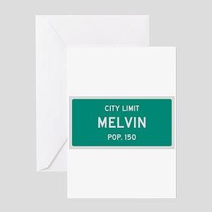 Melvin, Texas City Limits Greeting Card