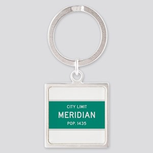 Meridian, Texas City Limits Square Keychain