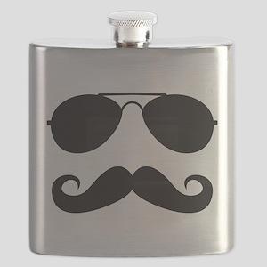 Macho Mustache Flask