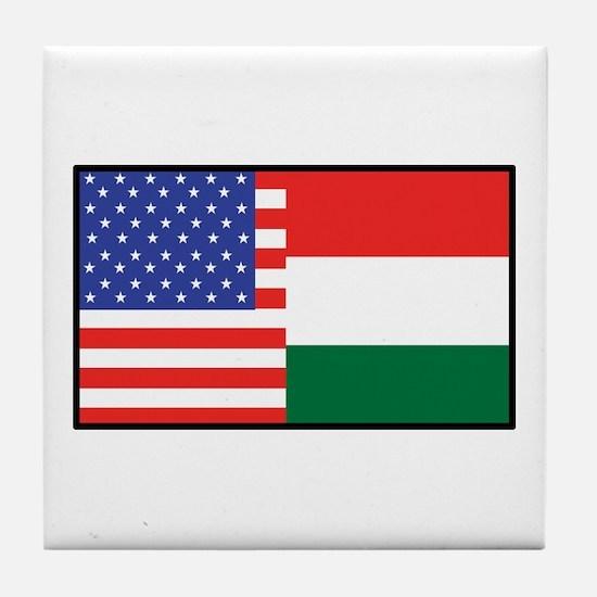 USA/Hungary Tile Coaster