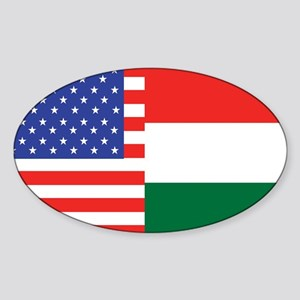 USA/Hungary Oval Sticker