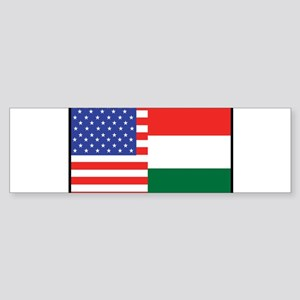 USA/Hungary Bumper Sticker