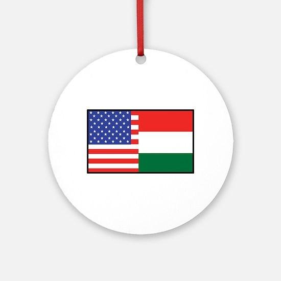 USA/Hungary Ornament (Round)