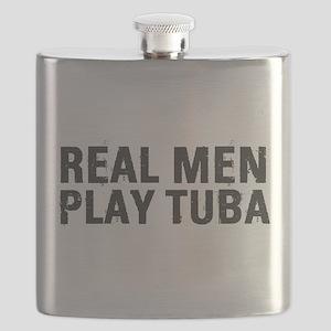 Real Men Play Tuba Flask