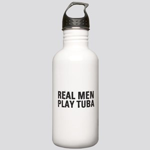 Real Men Play Tuba Stainless Water Bottle 1.0L