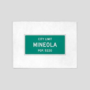 Mineola, Texas City Limits 5'x7'Area Rug