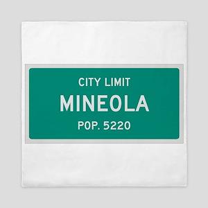 Mineola, Texas City Limits Queen Duvet
