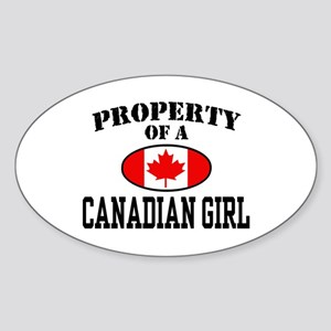Property of a Canadian Girl Oval Sticker
