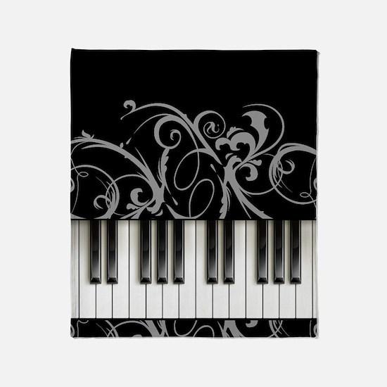 Piano Keyboard Throw Blanket