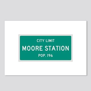 Moore Station, Texas City Limits Postcards (Packag