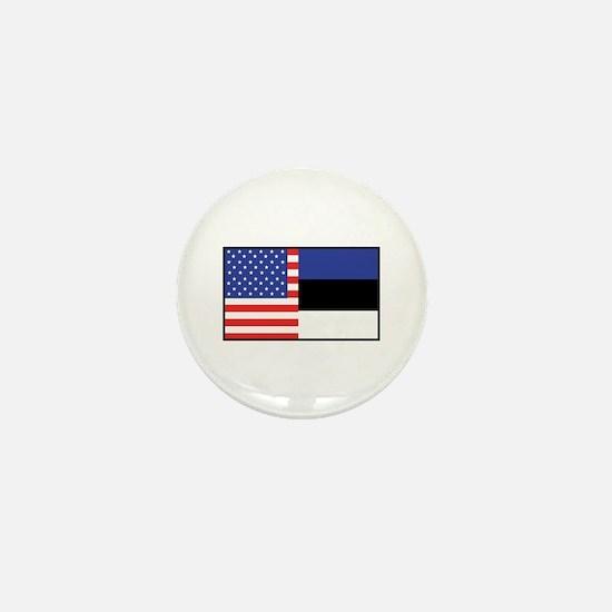 USA/Estonia Mini Button