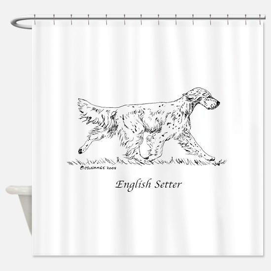 English Setter Shower Curtain