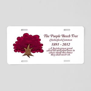 Chelmsford Purple Beech Tree Aluminum License Plat