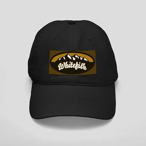 Whitefish Logo Tan Black Cap