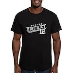 District 12 Design 3 Men's Fitted T-Shirt (dark)