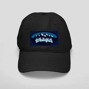 Whitefish Logo Ice Black Cap
