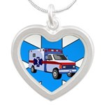 SAVING lives Silver Heart Necklace