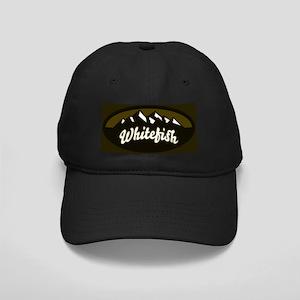 Whitefish Logo Olive Black Cap