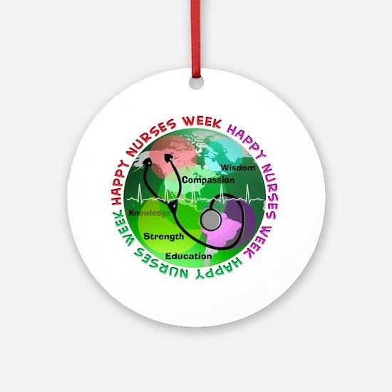 happy nurses week 2013 2 Ornament (Round)