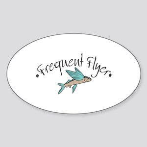 Frequent Flyer Oval Sticker