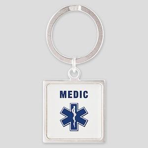 medic star of life.... Square Keychain