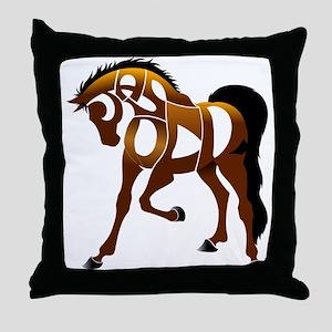 Jasper, the horse Throw Pillow