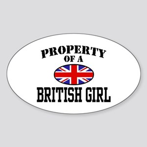 Property of a British Girl Oval Sticker