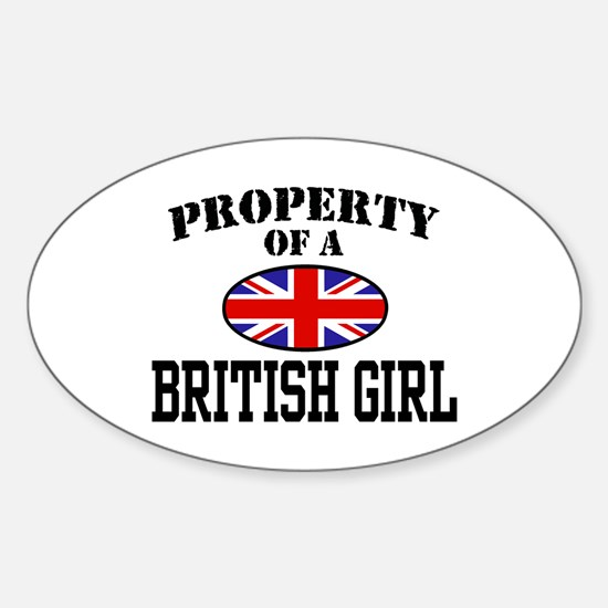 Property of a British Girl Oval Decal