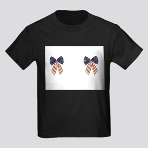 Patriotic Stars Bows Breast Pasties Shirt Kids Dar