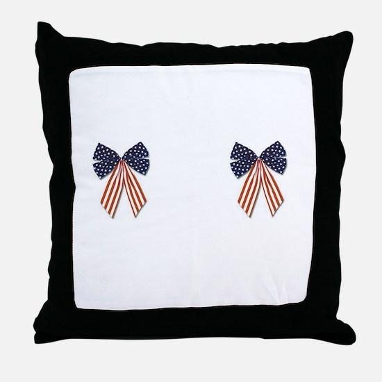 Patriotic Stars Bows Breast Pasties Shirt Throw Pi