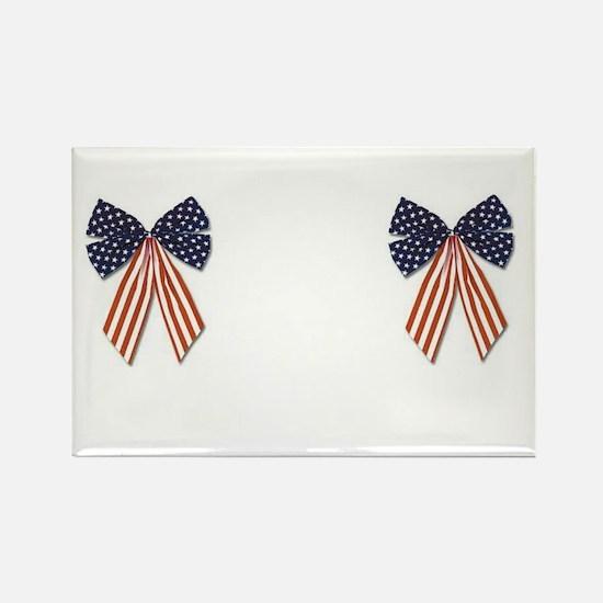 Patriotic Stars Bows Breast Pasties Shirt Rectangl