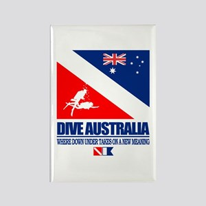 Dive Australia 2 Rectangle Magnet