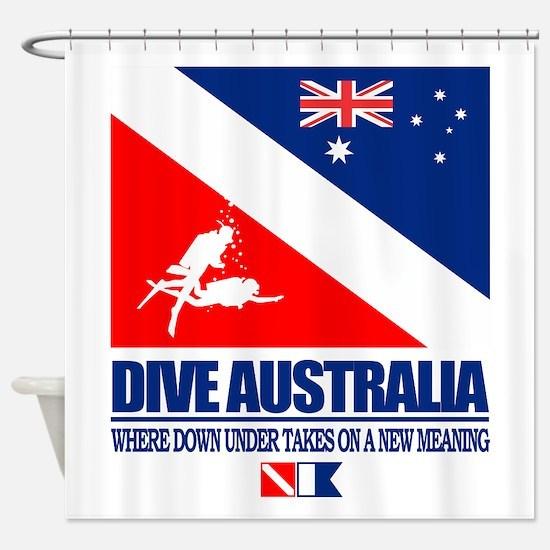 Dive Australia 2 Shower Curtain