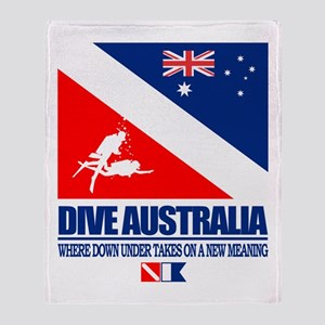 Dive Australia 2 Throw Blanket