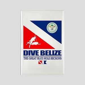 Dive Belize Rectangle Magnet
