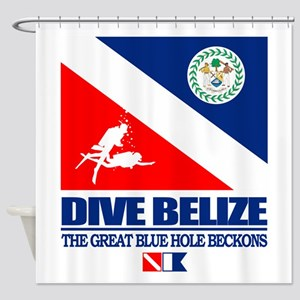 Dive Belize Shower Curtain