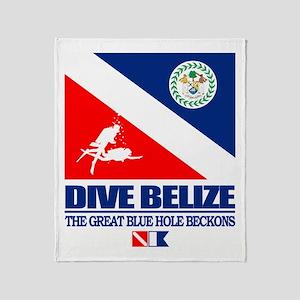 Dive Belize Throw Blanket