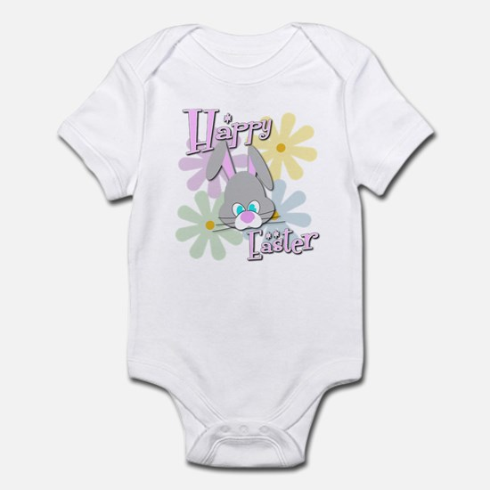 Easter Bunny and Flowers Infant Bodysuit