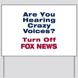 Turn Off Fox News Yard Sign
