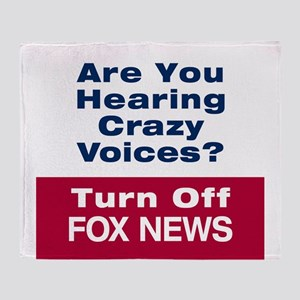 Turn Off Fox News Throw Blanket